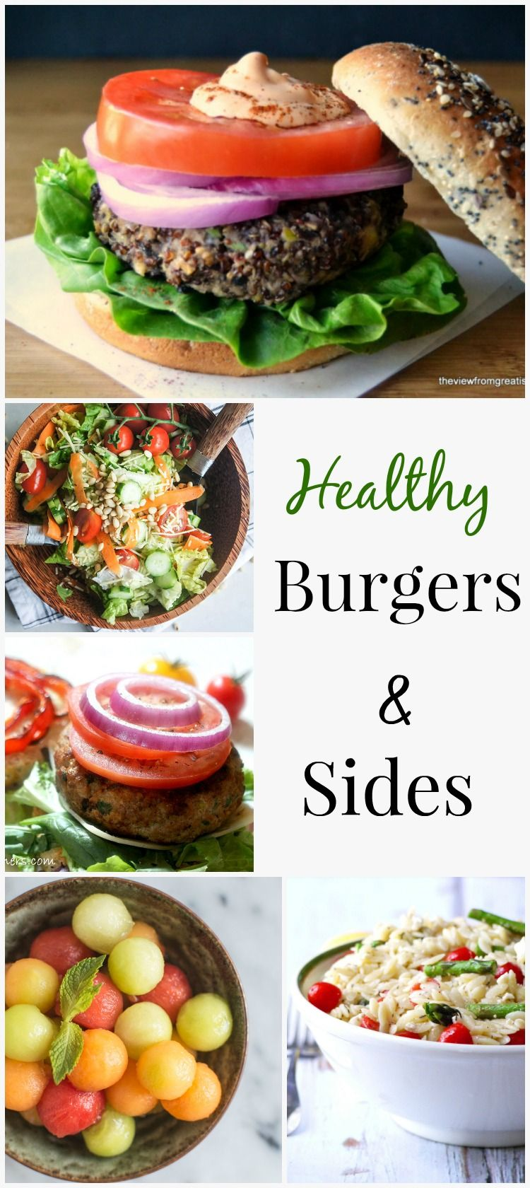 Healthy Burgers And Sides Simply Fresh Dinners Pinterest