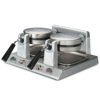 Double Side By Side Belgian Waffle Maker 120v 2400w