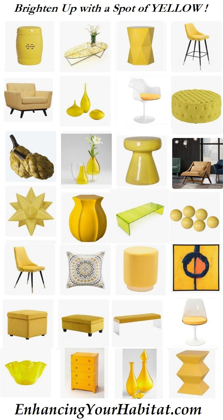 Yellow garden stool yellow bar stool yellow dining chair yellow ...