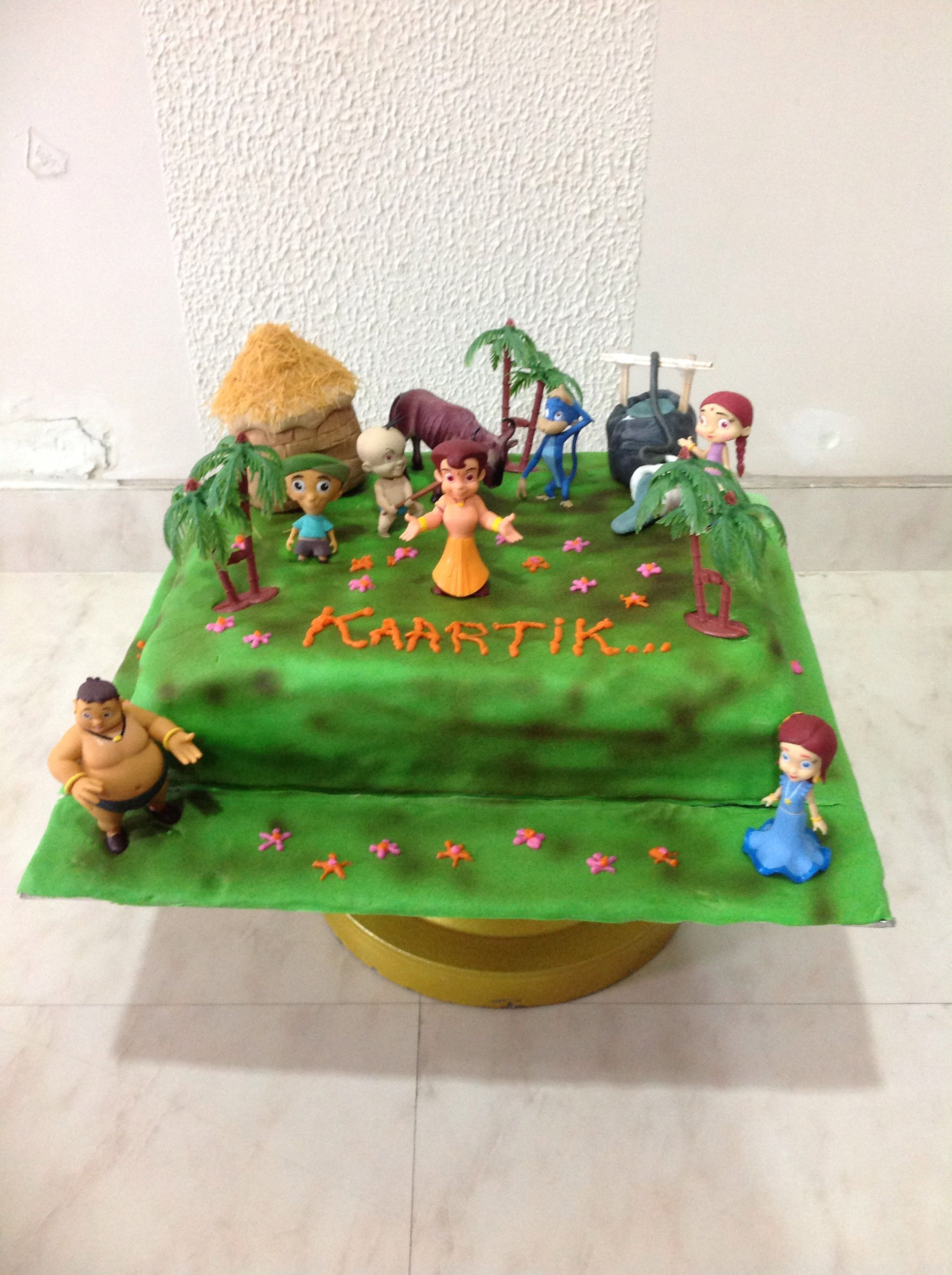 Chota Bheem themed cake!!! Every1 from Dholakpur to celebrate....