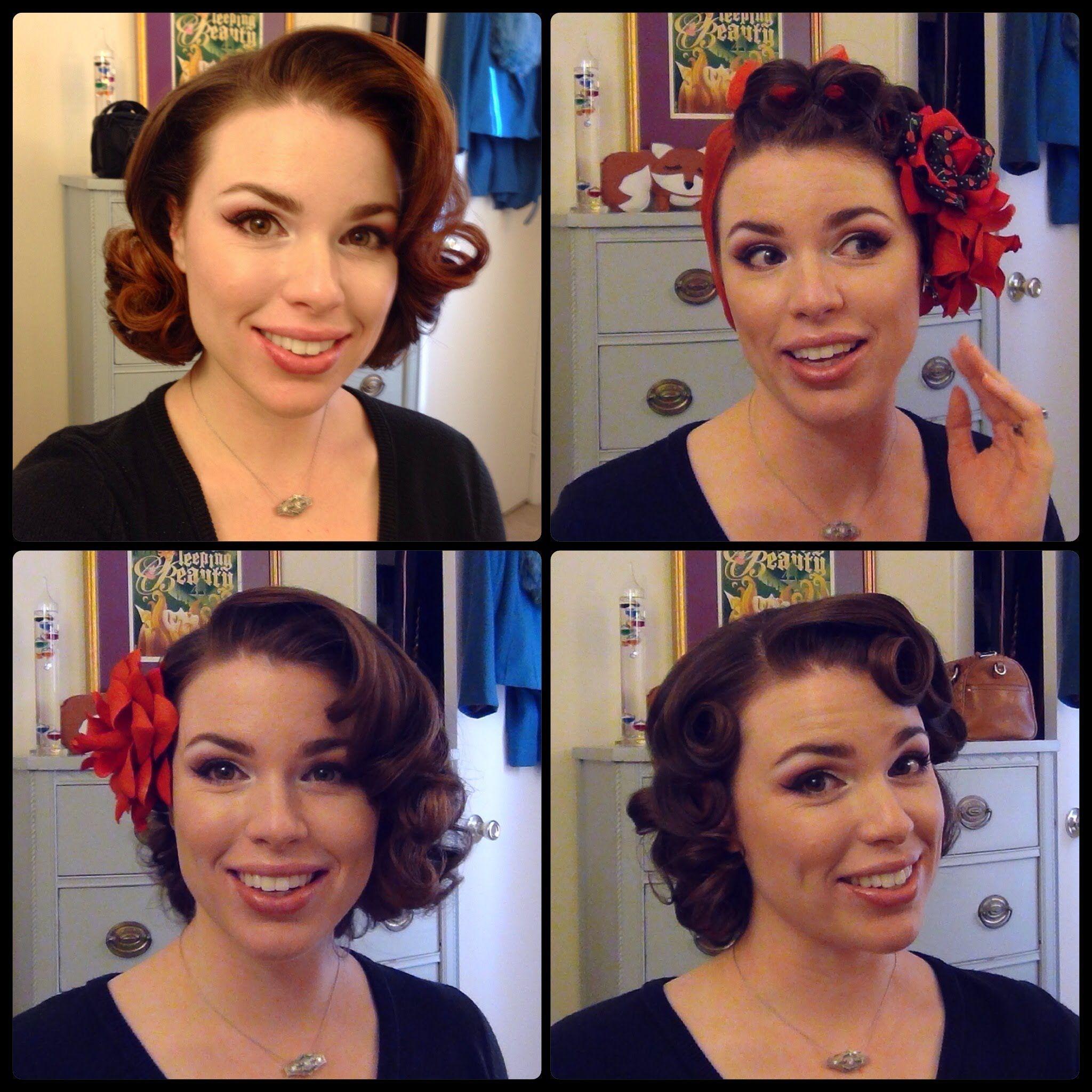 Glorious Vintage Retro Updos Hairstyle Ideas In 2020 Short Hair Tutorial Medium Hair Styles 1950s Hairstyles