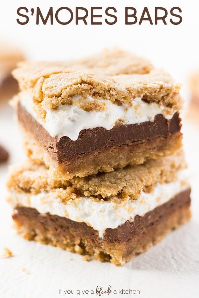 S'mores Bars #marshmallowfluffrecipes