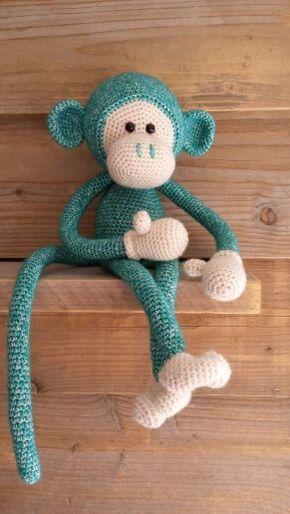 Mike the Monkey - Amigurumi Crochet pdf Pattern (EN, DK & NL ...