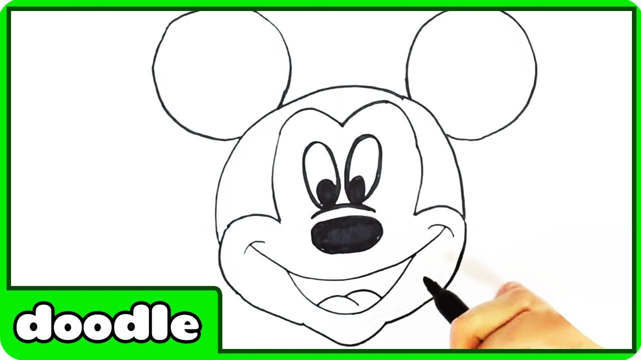 How To Draw Mickey Mouse  Step By Step  Easy Drawing Tutorial By  Hooplakidz Doodlez