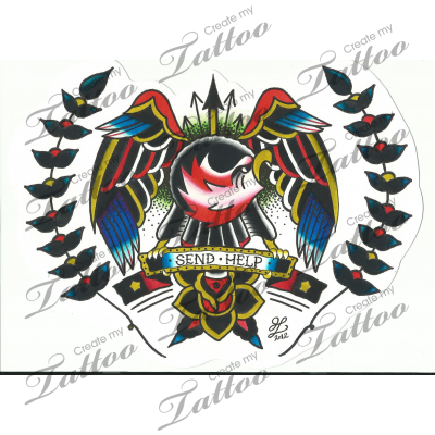 Marketplace Tattoo Traditional Eagle Chest Piece #13688 | CreateMyTattoo.com