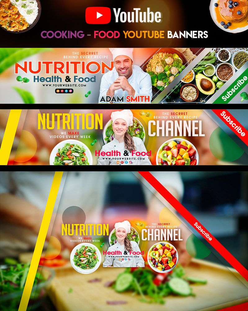 Nutrition Cooking Youtube Banner Youtube Banners Nutrition Youtube