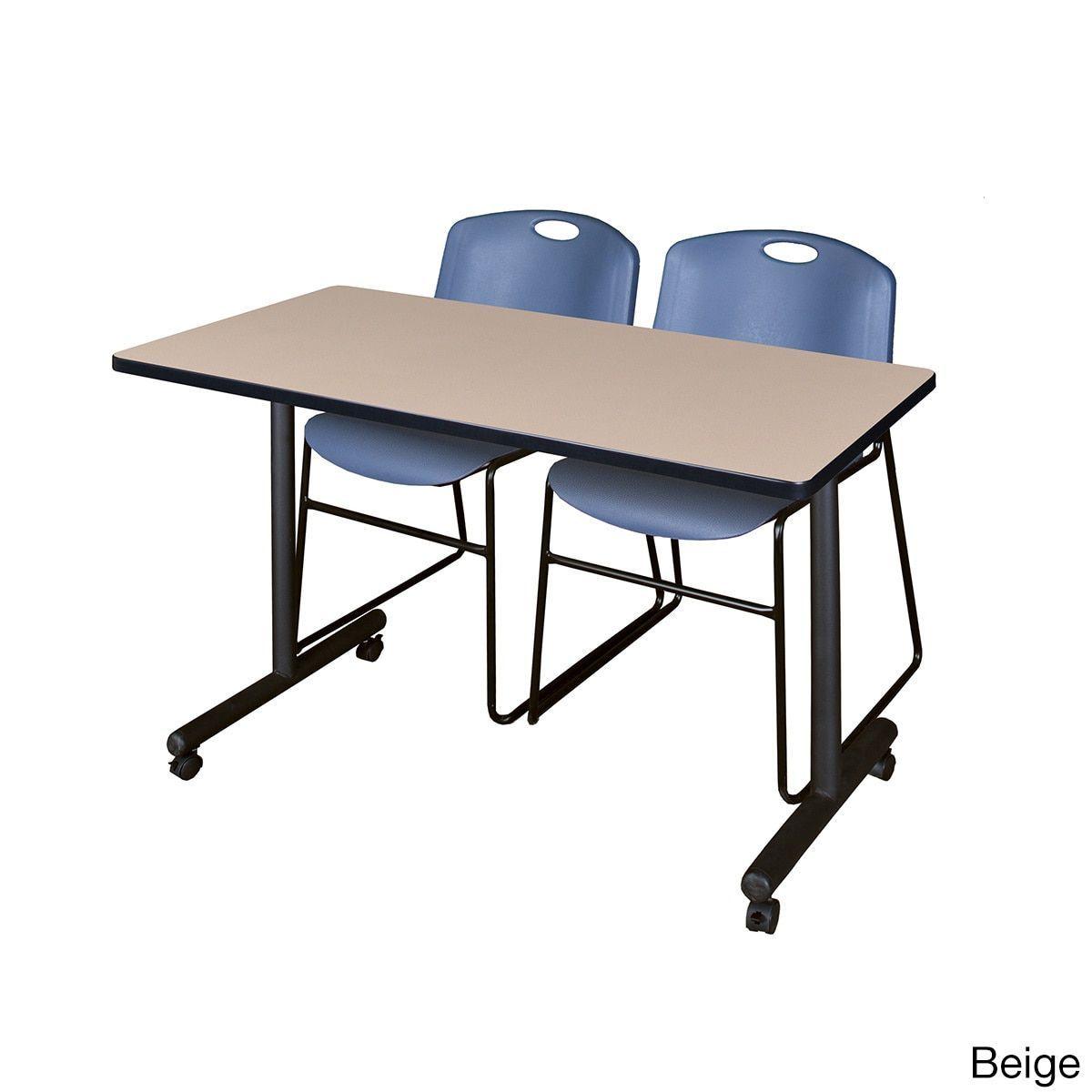 Office folding tables regency seating kobe mobile training table u  zeng blue stack