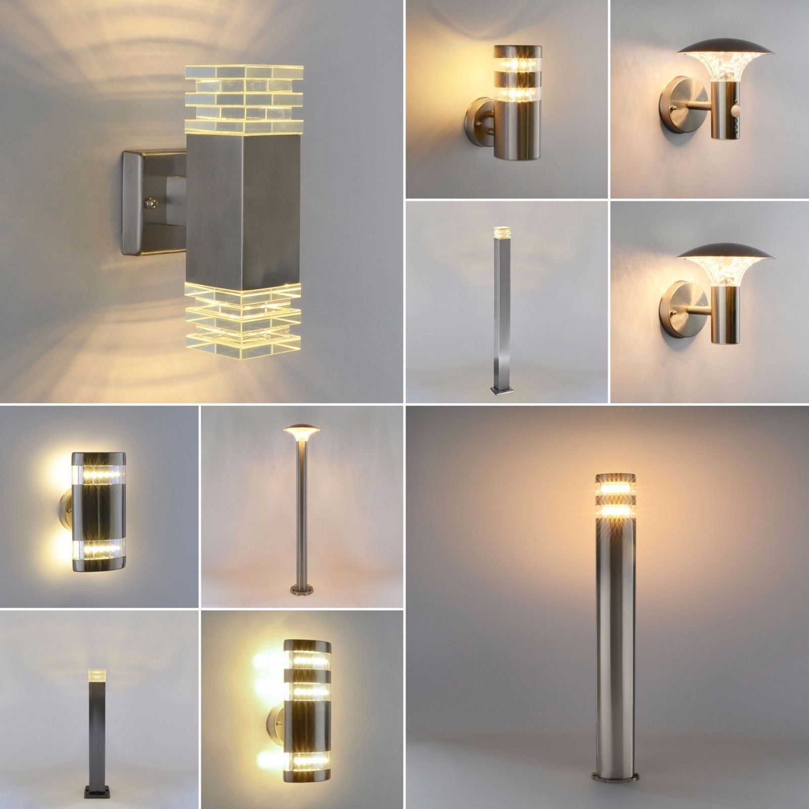 details zu led aussenleuchte wandleuchte bewegungsmelder wandlampe standleuchte wegeleuchte. Black Bedroom Furniture Sets. Home Design Ideas