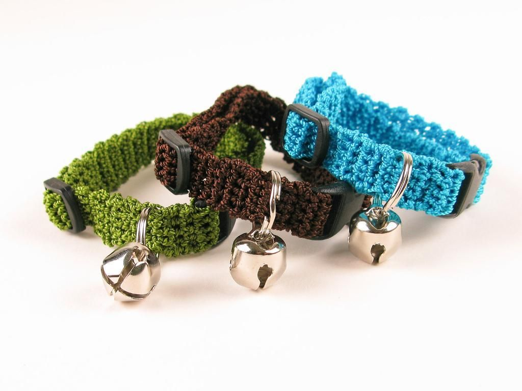 Crochet kitty cat collar pattern collar pattern for How to crochet cat toys