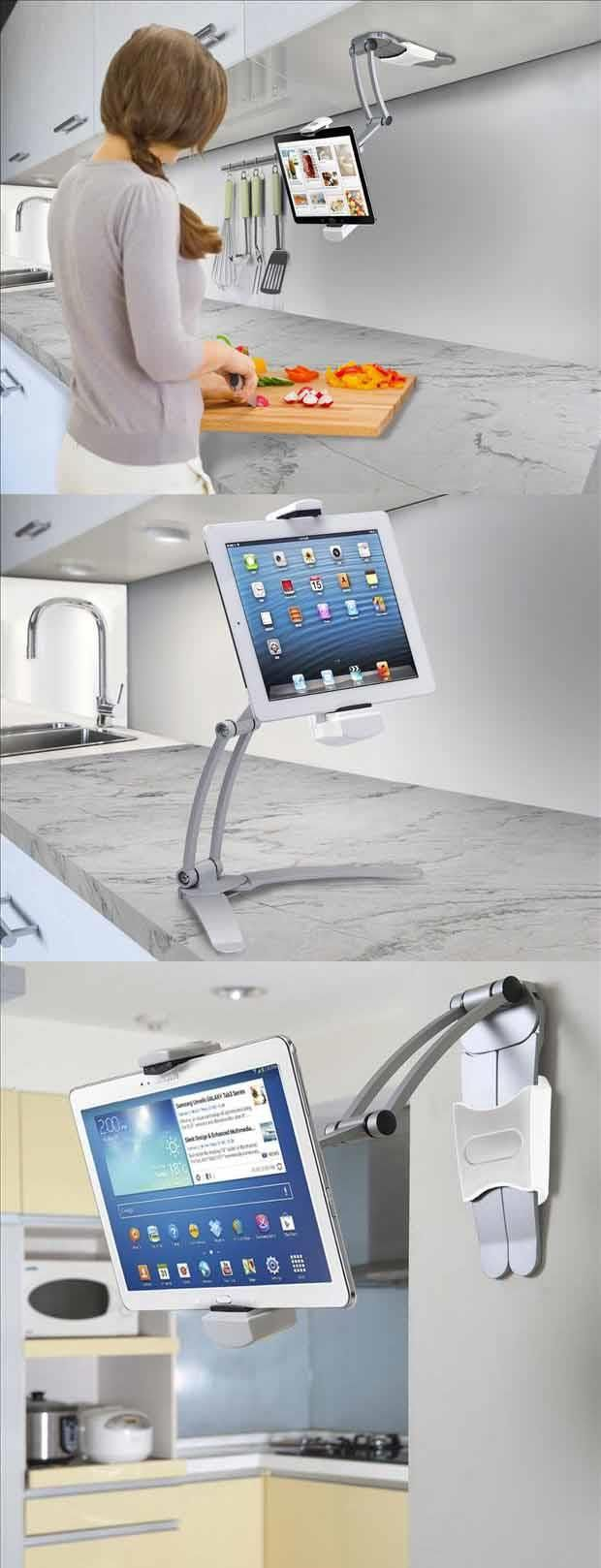 Tablet stand for kitchen  Must have for every kitchen Versatile Tablet mount  perfect for