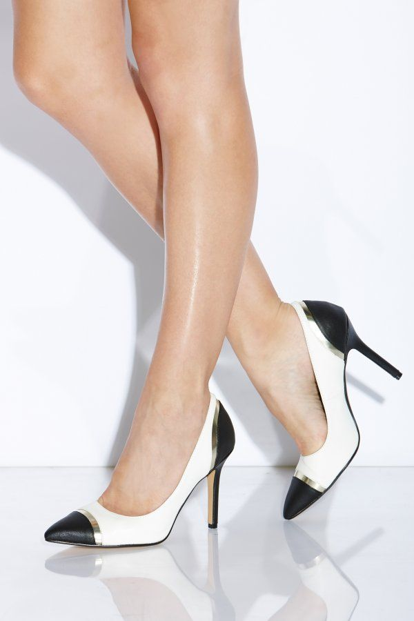f6865d53f44 Black and White Perspex Court Heel