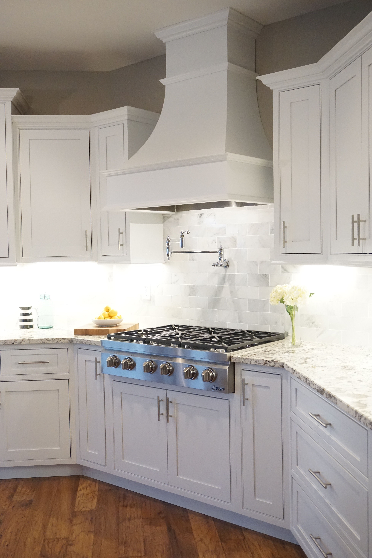 Best Kitchen Gallery: White Shaker Cabi S Decorative Range Hood Inset Cabi of Kitchen Hood Styles on rachelxblog.com