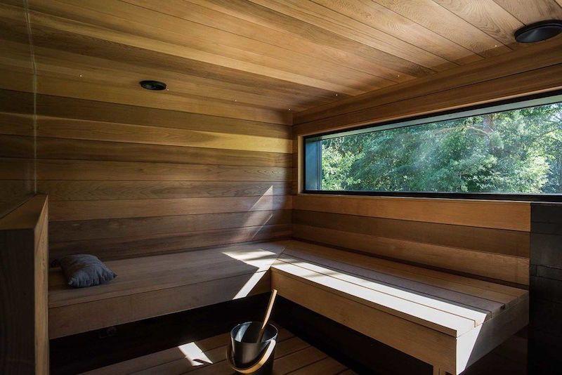 Modern Finnish sauna
