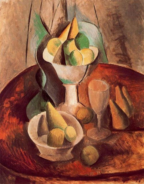 Fruit in a vase by Pablo Picasso, Oil painting reproductions