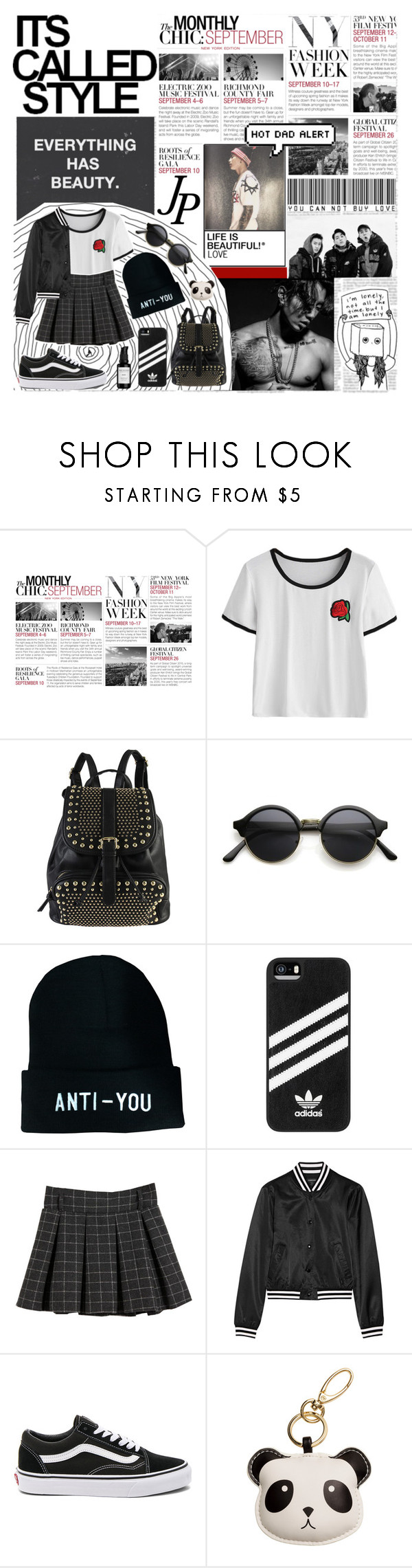 """367. J A Y  P A R K"" by choosemaknae ❤ liked on Polyvore featuring BCBGMAXAZRIA, Diophy, adidas, R13, Vans and Root Science"