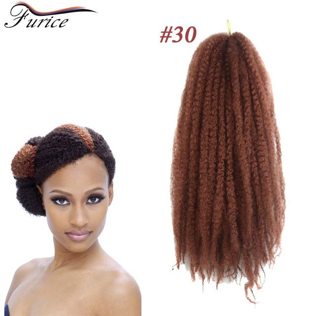Afro Kinky Twist Crochet Braid Curly Synthetic Hair Bulk Extensions