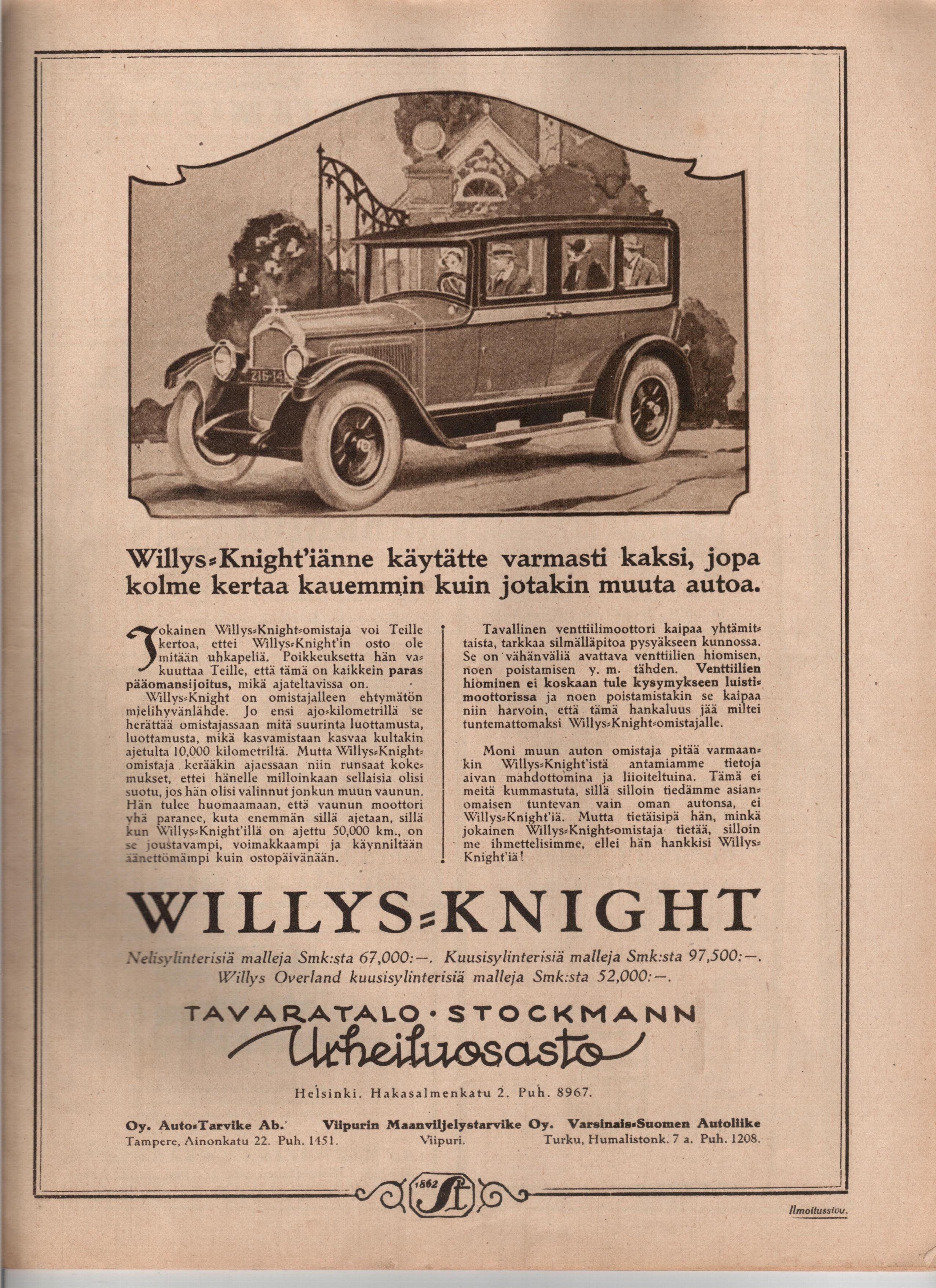 Knight Car Willys Car Willys Knight Wheel Deal Amx Car Ads Vintage