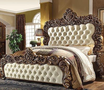 Classic Victorian King Bedroom Set 5pc HD 8011  bedroom and Bedrooms