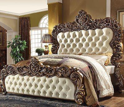 Classic Victorian King Bedroom Set 5pc Hd 8011 Muebles De Lujo Muebles De Estilo Cama De Lujo