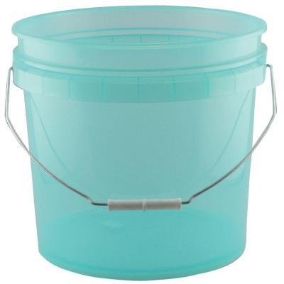 Leaktite 3 5 Gal Green Plastic Translucent Pail Pack Of 3 209301 Plastic Pail Pail Dry Food Storage
