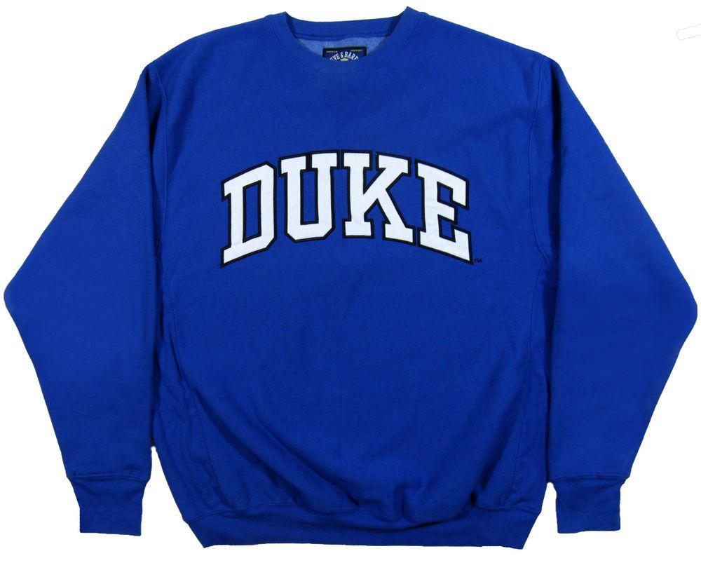 best cheap 98681 db698 DUKE University BLUE DEVILS Mens L Crew Neck Sweatshirt ...