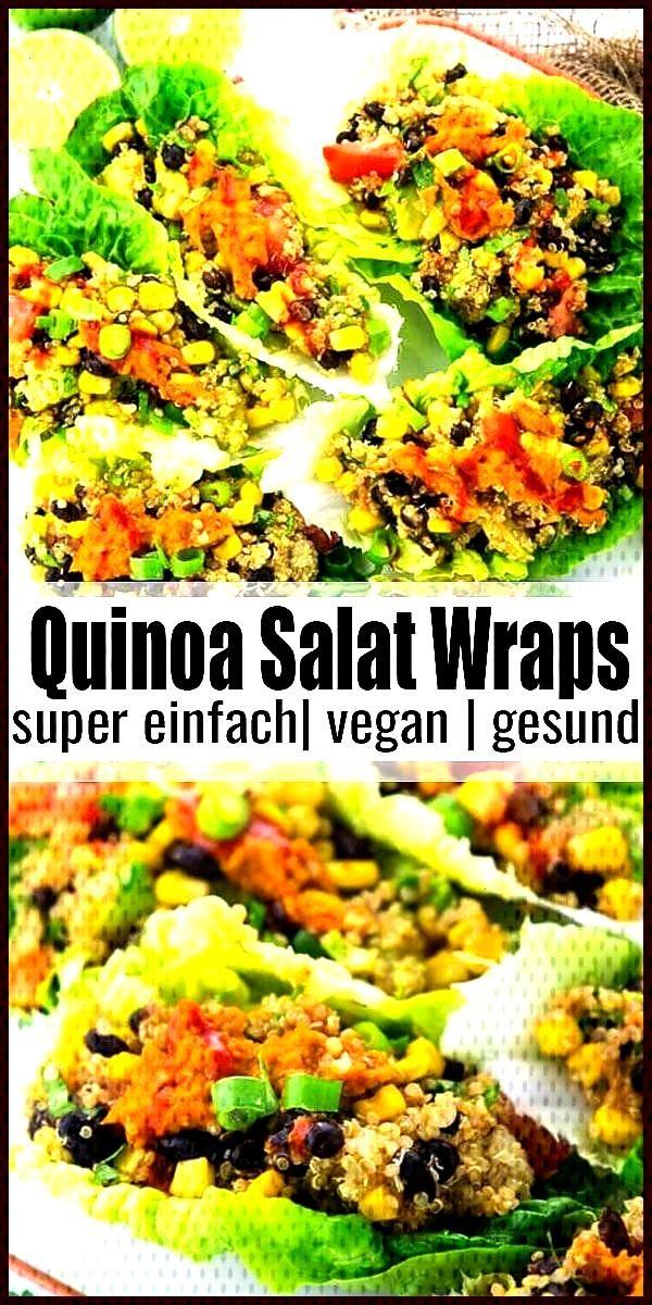Super gesunde vegane Wraps mit Quinoa Super gesunde vegane Wraps mit Quinoa Unglaublicher lecker un