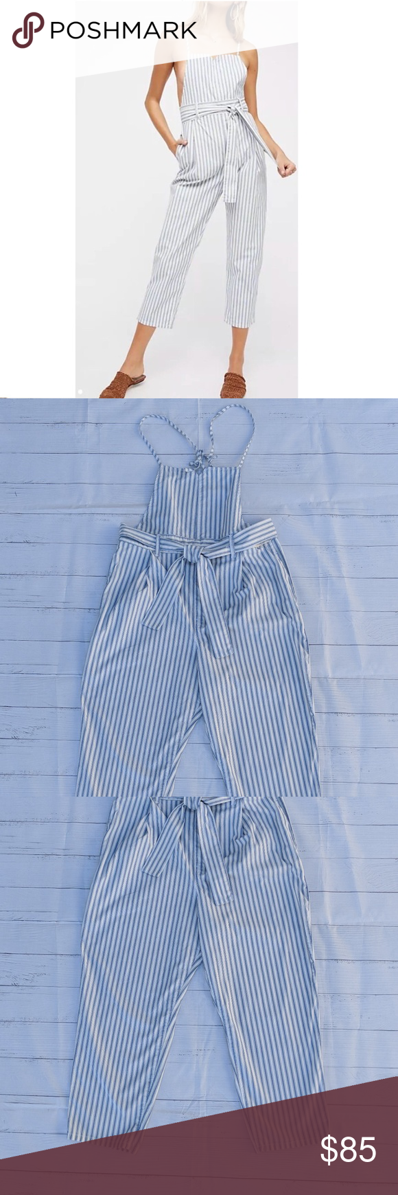 1ac69c7b927f Free People One Piece Striped Jumpsuit Overalls L Free People Isabelle  Pegged One Piece Striped Jumpsuit Large L Overalls Sz L Approximate  measurements  ...