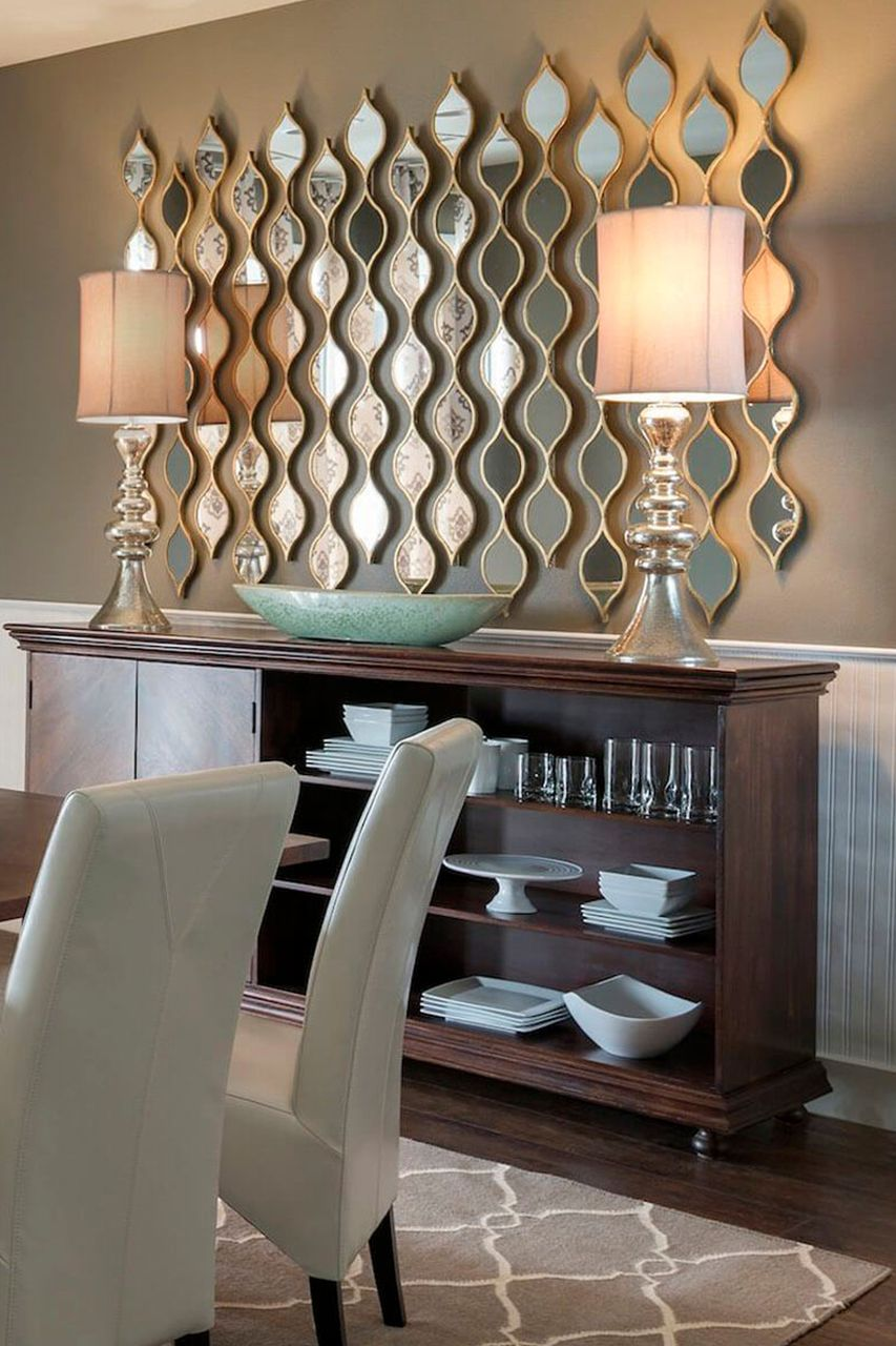 How To Decorate The Dining Room With Luxury Mirrors Dining Room Wall Decor Charming Dining Room Contemporary Decor