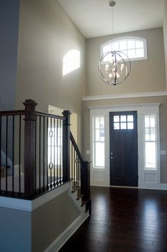 Olde Orchard Petros Homes Staircase With Wrought Iron Spindles With