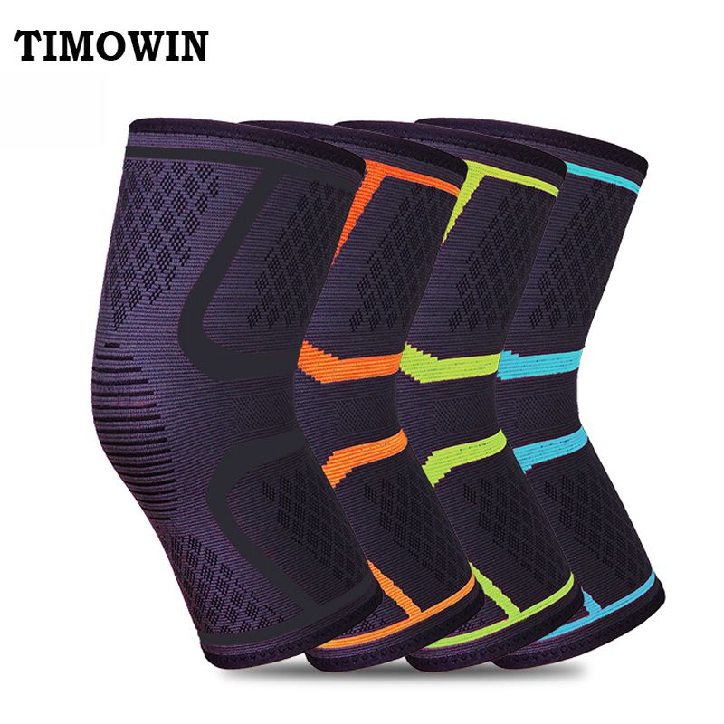 950dba2663 1 Pcs Knee Support Protect TIMOWIN Brand Fitness Running Cycling Braces  Kneepad Elastic Nylon Sport Gym Knee Pad Warm Sleeve