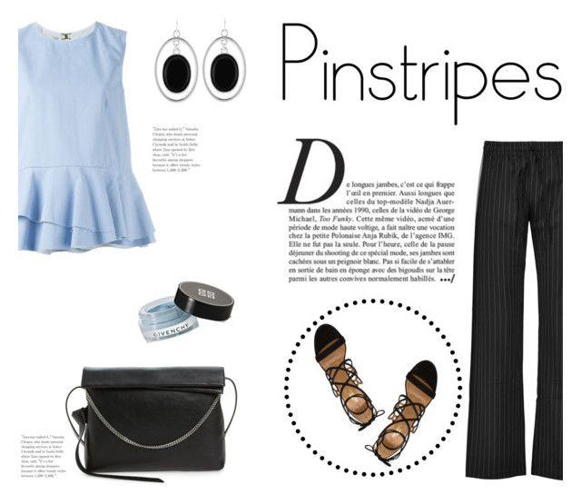 """Perfect Pinstripes"" by katsin90 ❤ liked on Polyvore featuring Norma Kamali, Marni, Aquazzura, AllSaints, Anja, Liz Claiborne, Givenchy and pinstripes"