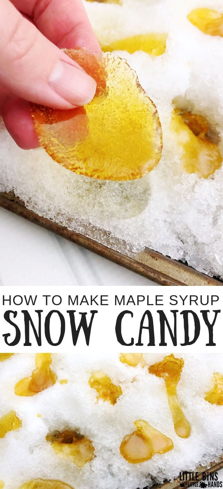 How To Make Maple Syrup Snow Candy #snowdayactivitiesforkids