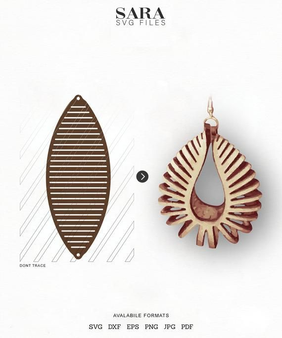 Photo of Sculpted Earring SVG, Leather Twisted SVG, Pendant SVG Tridimensional Earrings d…