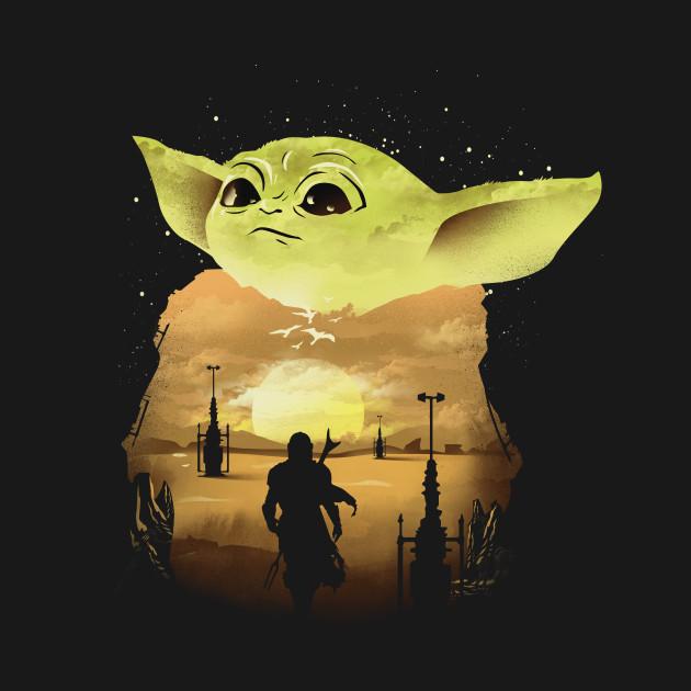 Baby Yoda Sunset Mandalorian T Shirt The Shirt List Star Wars Wallpaper Star Wars Pictures Star Wars Images