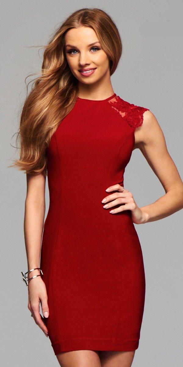 ac98208bc6b Sexy Short Dress by Faviana 7857. Colors  Ruby