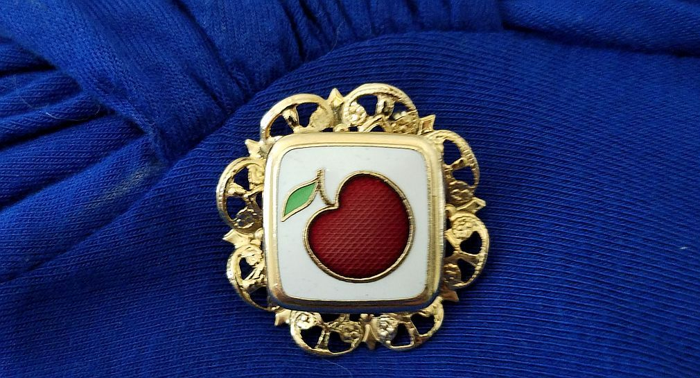 #Disney apple brooch for my #snowwite inspired outfit