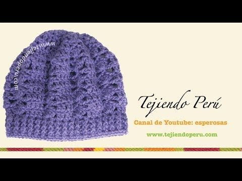 ▷ Boina tejida en crochet (slouchy beret) Parte1 - YouTube ...