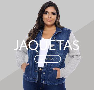9eb7dcb6ed8c7a Jaqueta Plus Size Jeans & Moletom Forrada | Tendências da Moda Plus ...