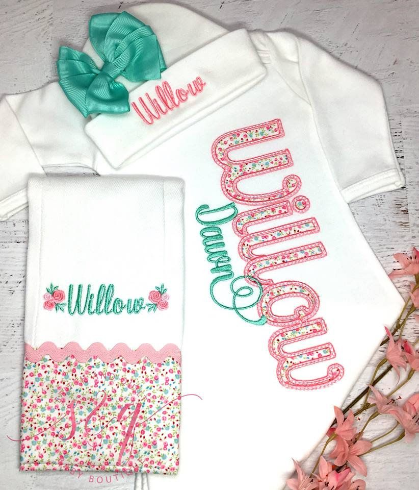 834d8576ab9b9 baby girl coming home outfit, baby girl coming home outfit spring, baby  girl coming home outfit summer, coming home outfit baby girl, new by  StitchandQuilt ...