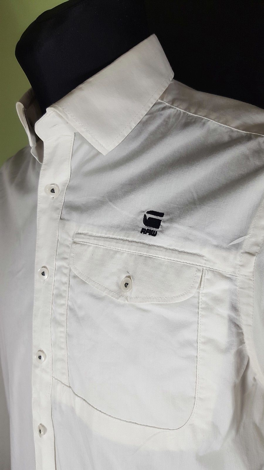 G STAR RAW men formal dress shirts L size MADE IN