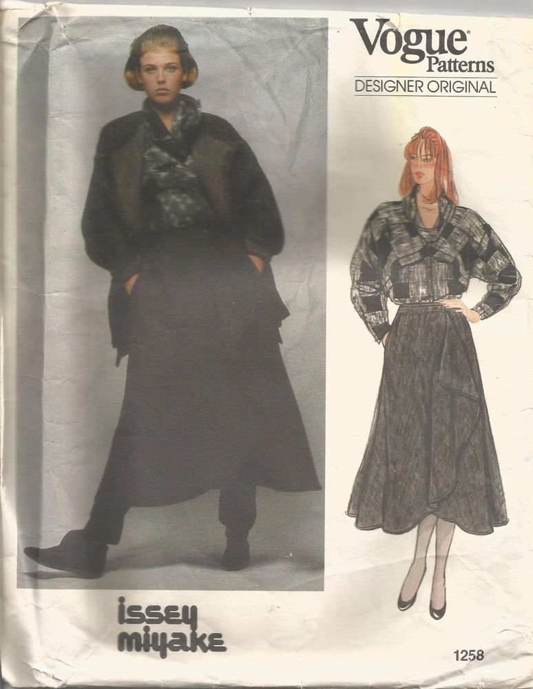 Vogue Sewing Pattern 1258, Issey Miyake Jacket, Skirt, Blouse ...