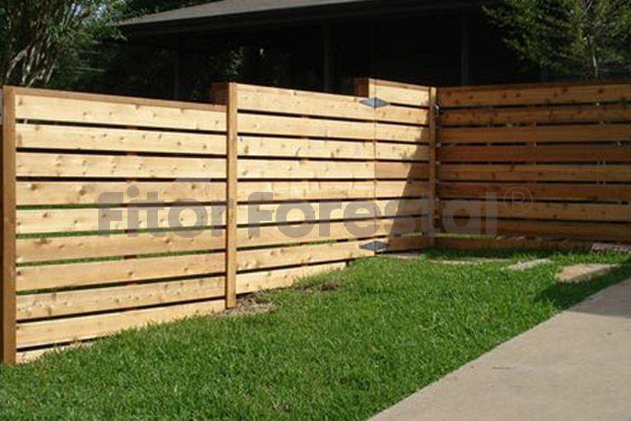 Valla de madera vecinal basic vallas de madera en 2019 vallas de madera madera y listones - Ocultacion para jardin ...