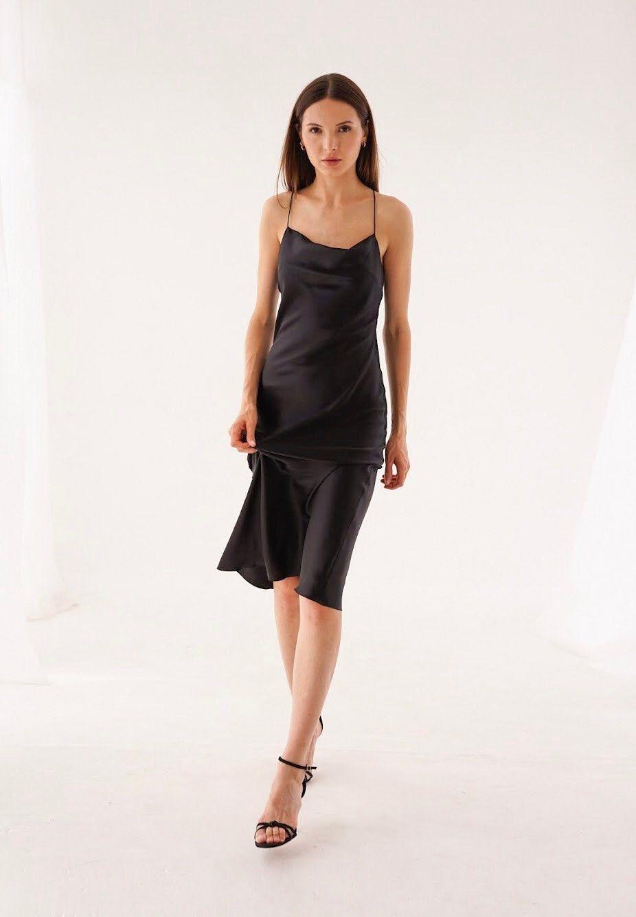 Black Silk Slip Dress Black Midi 100 Silk Charmeuse Cami Etsy Silk Slip Dress Slip Dress Red Slip Dress [ 1334 x 926 Pixel ]