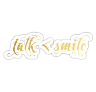 talk less smile more sticker by athee fille products pinterest