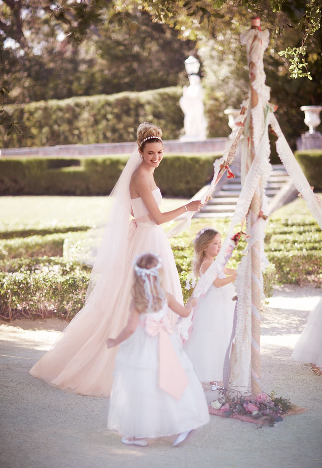 This Strapless Tulle Weddingdress In Whisper Pink Is Perfect For The Bride Who Wants To Look And Feel Like A Princess