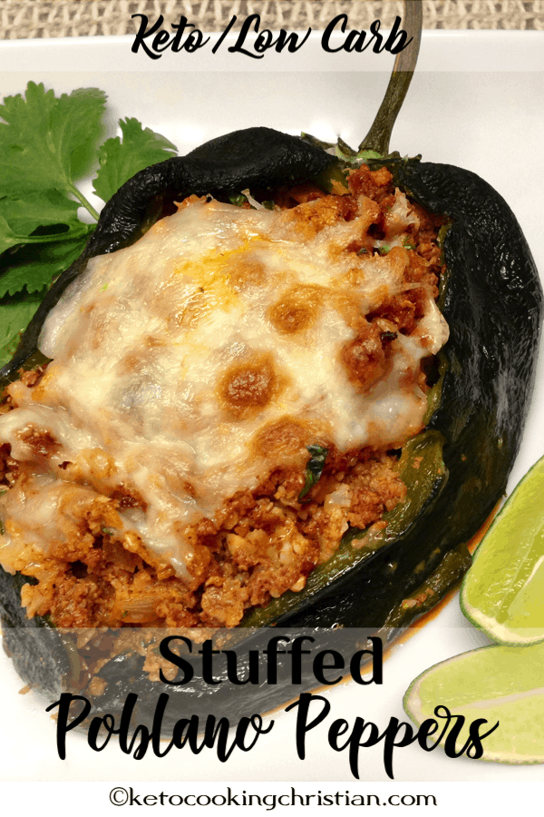 Stuffed Poblano Peppers Keto And Low Carb Roasted Poblano Peppers Are Stuffed With These Chor Stuffed Peppers Stuffed Poblano Peppers Poblano Peppers Recipes
