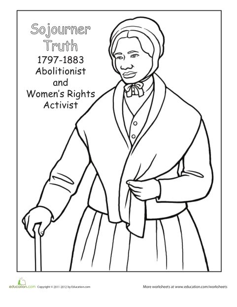 Free Harriet Tubman Coloring Page Png 481 622 Pixels Black