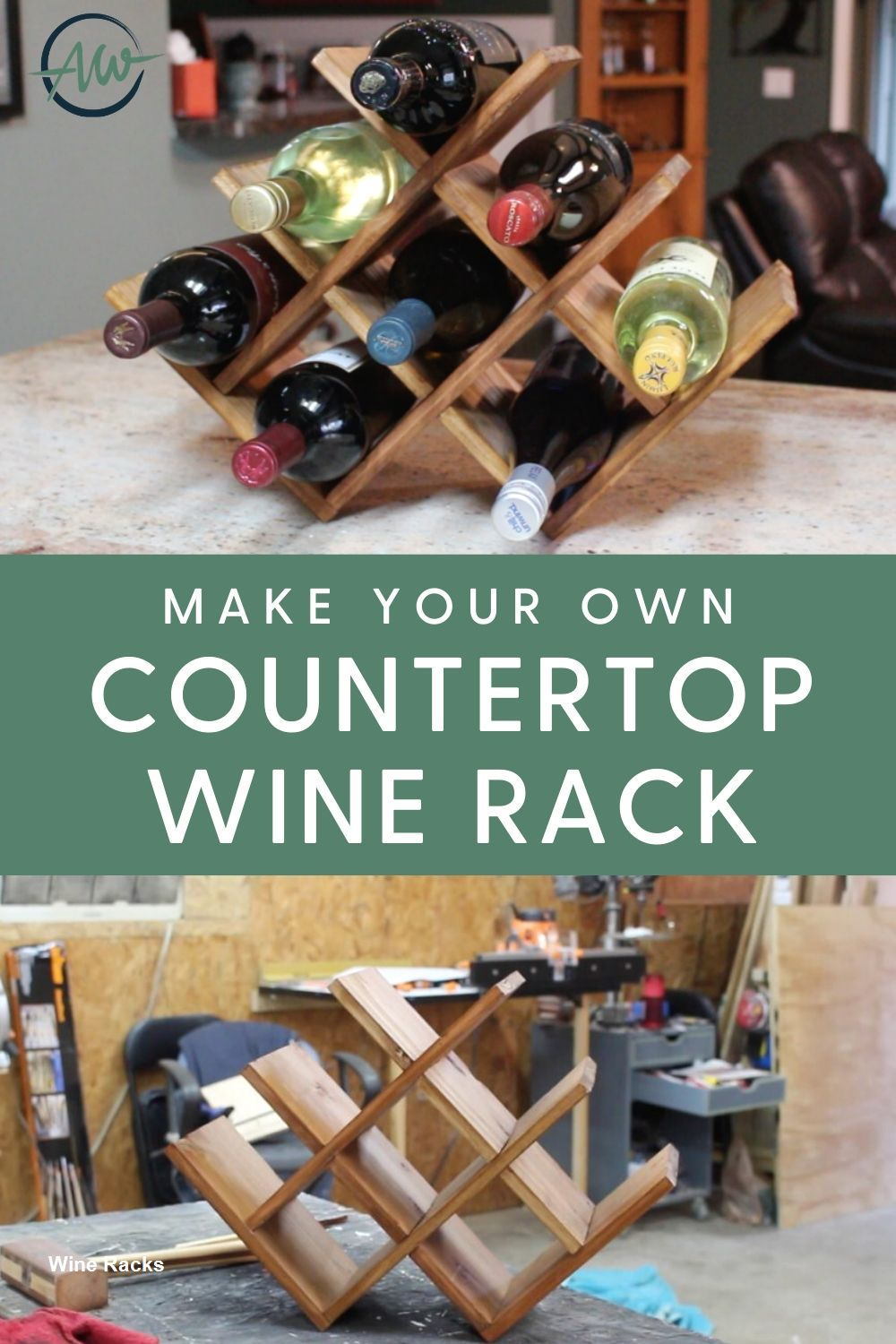 Diy Wine Rack Designs With The Unique And Trendy Styles In 2020 Countertop Wine Rack Wine Rack Design Diy Wine Rack