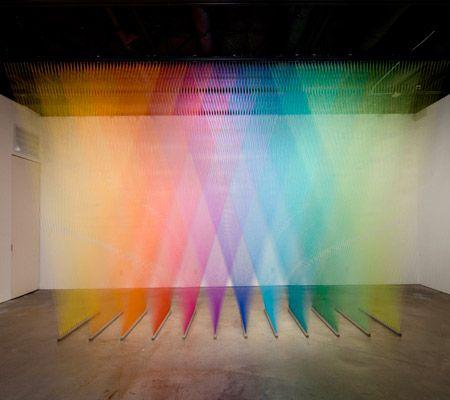 Rainbows Made of Thread - Gabriel Dawe