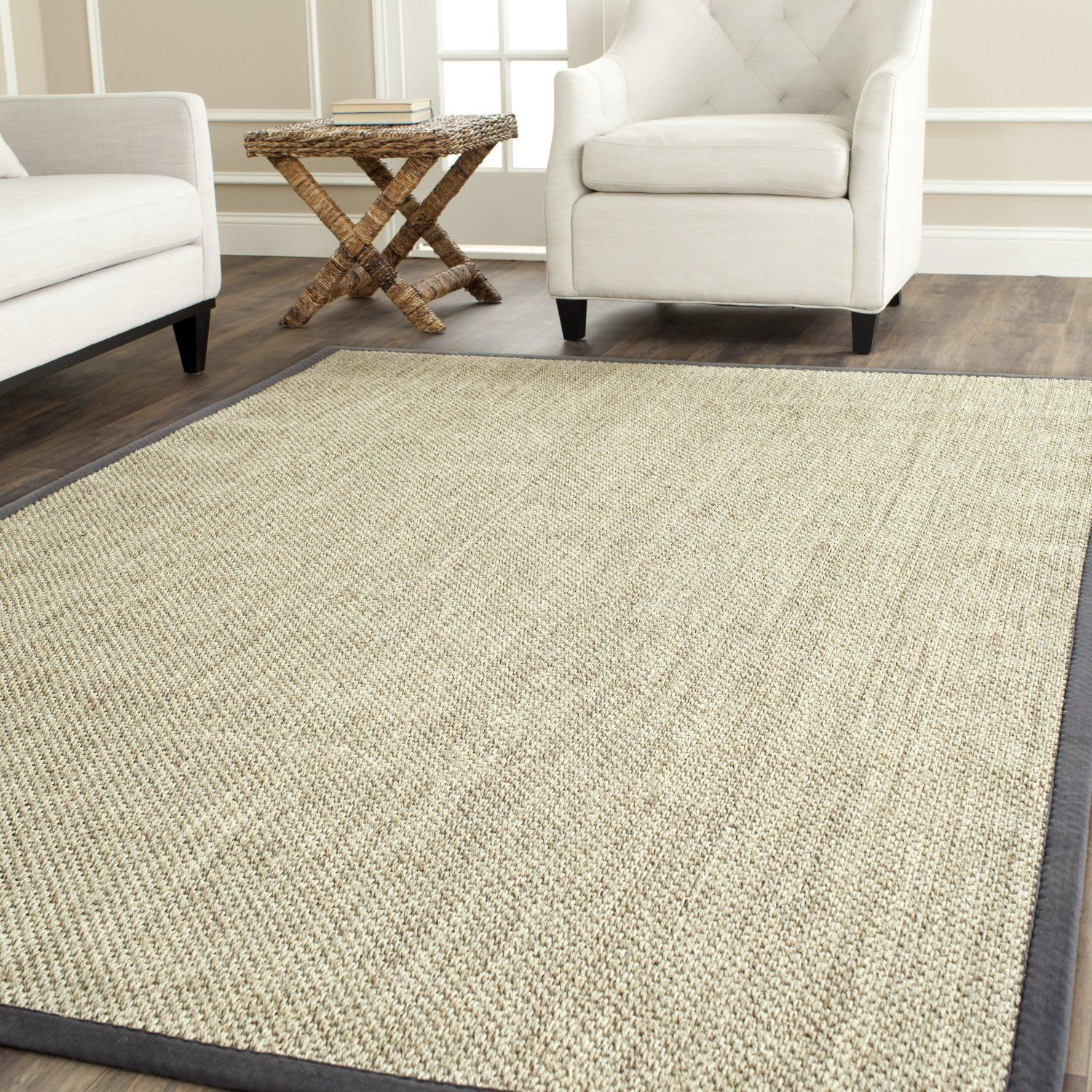 Modern Area Rugs For Living Room Modern Safavieh Nf443b 3 Natural Fiber Area Rug In Marble Grey